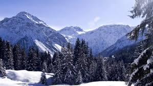alps in the snow